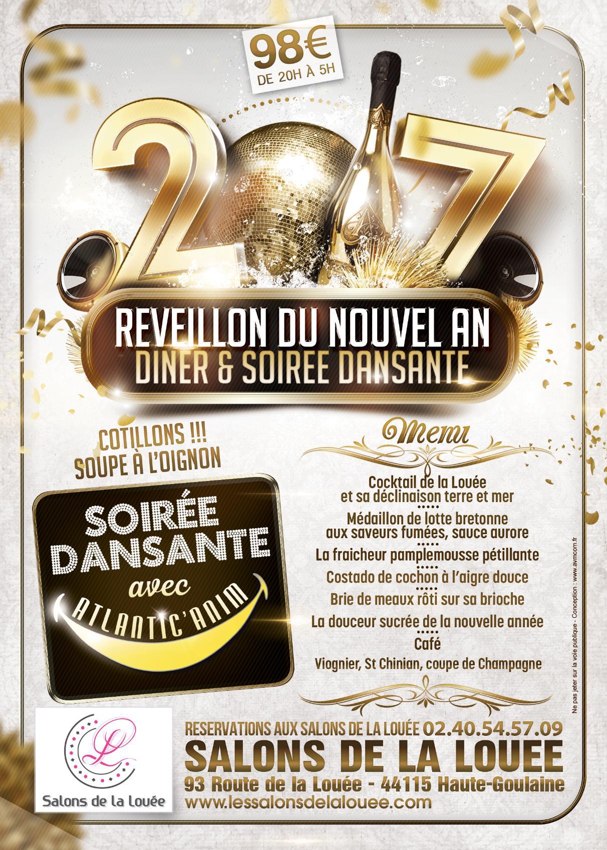 Soir e reveillon nantes 2017 les salons de la lou e for Salon de la podologie 2017